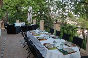 A romantic dinner on the terrace