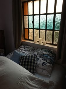 Le lit de la chapelle