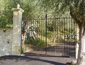 The main gate of the estate
