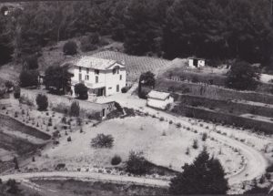 Aerial view of the property in the 50s